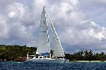 photo of crewed charter sailing yacht cerulean